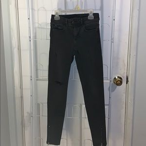 Low Rise Ripped Skinny Jeans